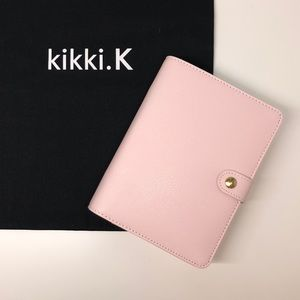 Kikki.k Pale Pink Leather Personal Planner